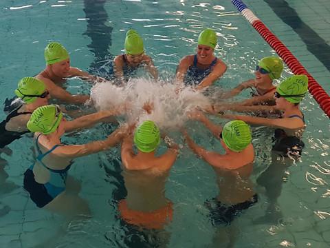 Vorbereitung beim Schwimmtraining